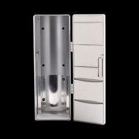 ミニusbクーラーウォーマー冷蔵庫デスクトップ冷却飲料ドリンク缶ホワイ