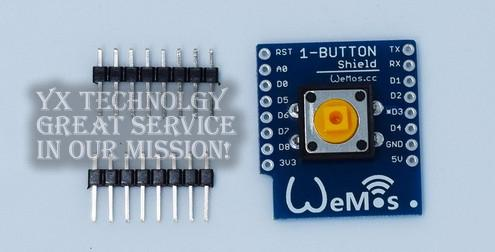 1-Button Shield for WeMos D1 mini button Smart ESP8266 WiFi Module DIY kit for ESP8266 WIFI parts