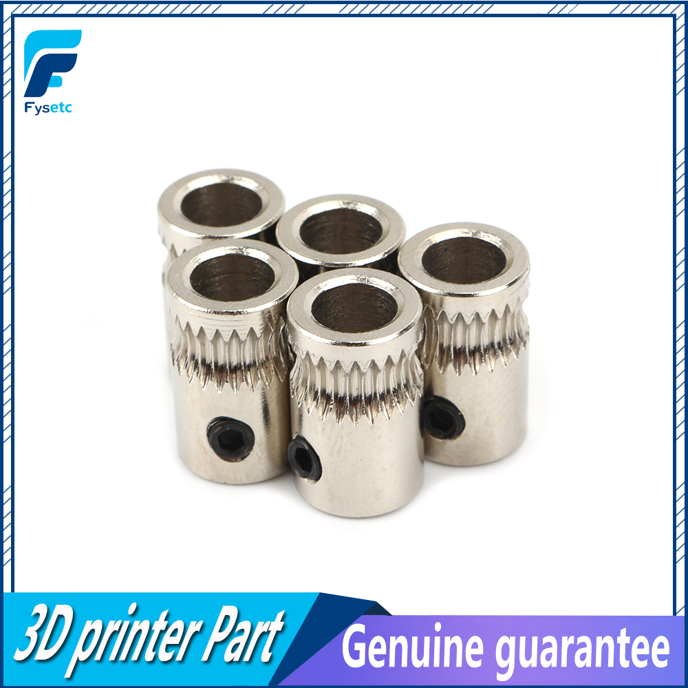 5pcs Filament Gear Motor Gear Filament Pulley For Prusa I3 MK2 MK2.5/MK3 Multi Materials 2.0 3D Printer Extruder Gear