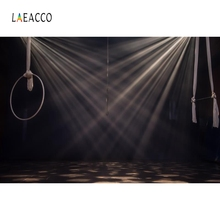 Laeacco Light Bokeh Stage Juggling Pets Portrait Photography Backgrounds Customized Photographic Backdrops for Photo Studio