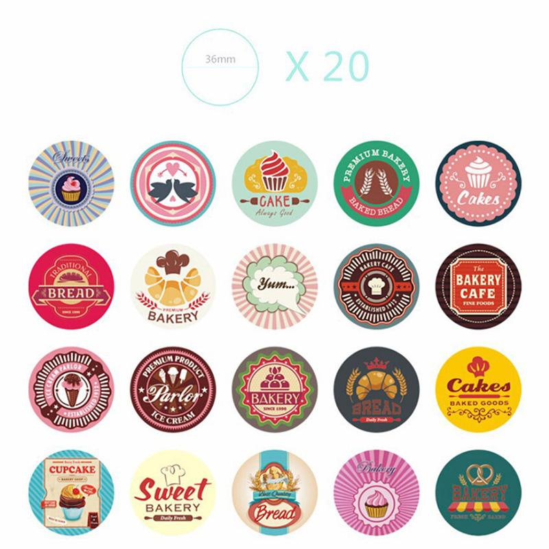 38pcs lot diy cute kawaii stickers sweet cake bread print sticky paper kid gift diary decoration handmade cookie bags sticker in memo pads from office