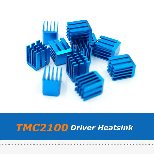 15pcs/lot Blue Aluminum Cooler Heatsink For TMC2100 Stepper Driver