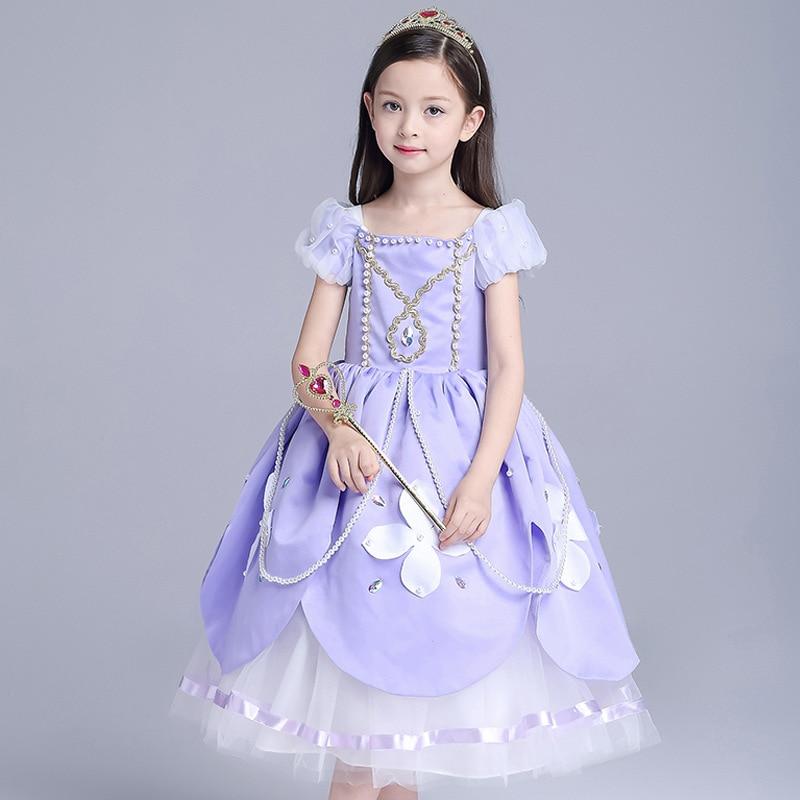 Sofia Princess Dress Kids Cosplay Costumes Girls New Arrival: 2018 New Girls Kids Sofia Princess Dress Cosplay Princess