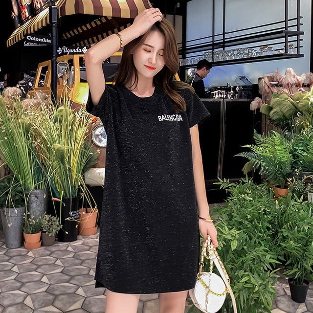 XL-4XL Large Size Women T-shirt 2019 Summer New Femme T-shirt Loose Long Short Sleeve Feminino Top