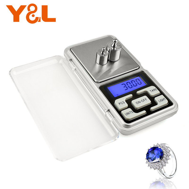 500g x 0.1g Mini Pocket Digital Scale for Gold Sterling Silver Jewelry Scales Balance Gram 200g x 0.01g Electronic Scales