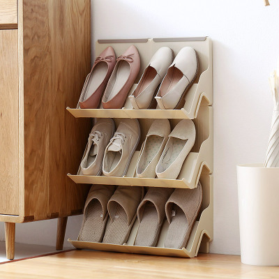 MoeTron Creative Shoe Rack Storage DIY Plastic Shoe Shelves Space saving Simple Shoe Storage Rack-in Storage Holders u0026 Racks from Home u0026 Garden on ... & MoeTron Creative Shoe Rack Storage DIY Plastic Shoe Shelves Space ...