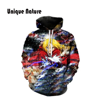 Unique Nature 2018 one pieces hoodies mens outwear stylish tracksuits Harajuku Style Hoody 3D Pullover with Hat