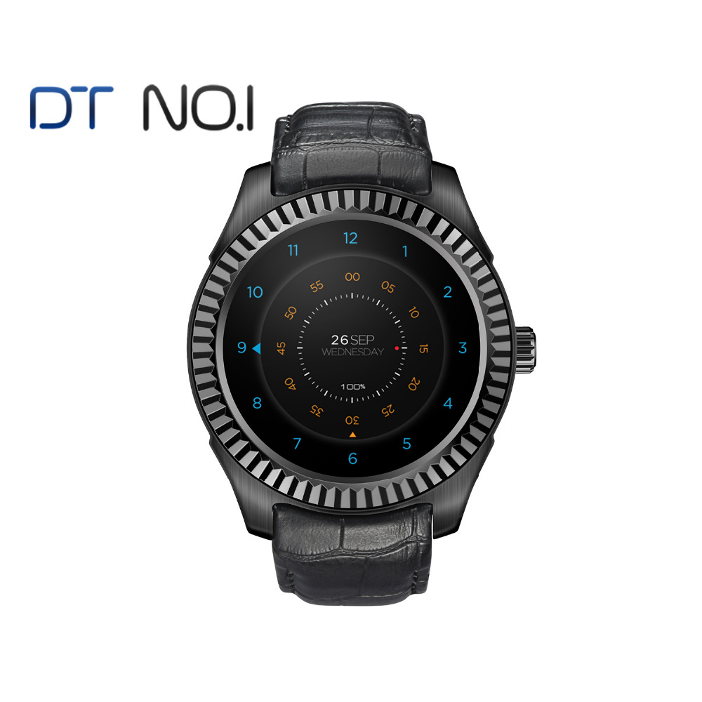 DTNO.1 D7 montre Smart watch Android 4.4 smart-santé MT6572 Bluetooth 4.0 500 mah GPS 3g Wifi Coeur Taux moniteur