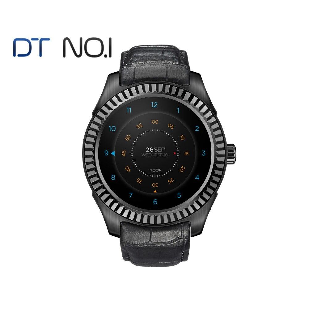 DTNO.1 D7 reloj inteligente Android 4,4 Smart salud MT6572 Bluetooth 4,0 500 mAh GPS 3G Wifi Frecuencia Cardíaca monitor
