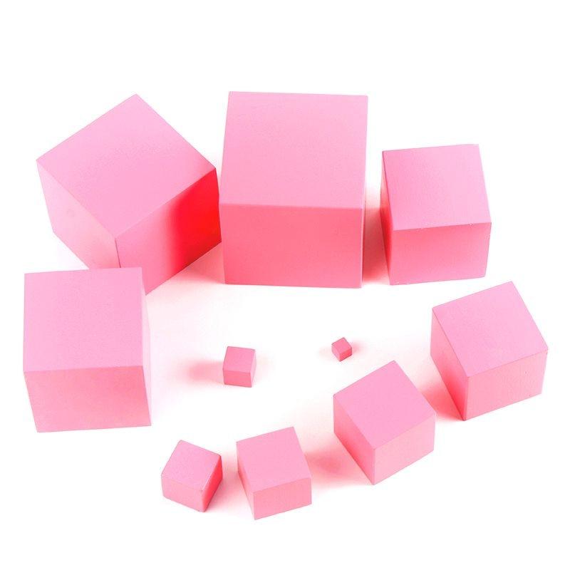 Juguetes Montessori Matemáticas de madera de alta calidad Pink Tower - Educación y entrenamiento - foto 4