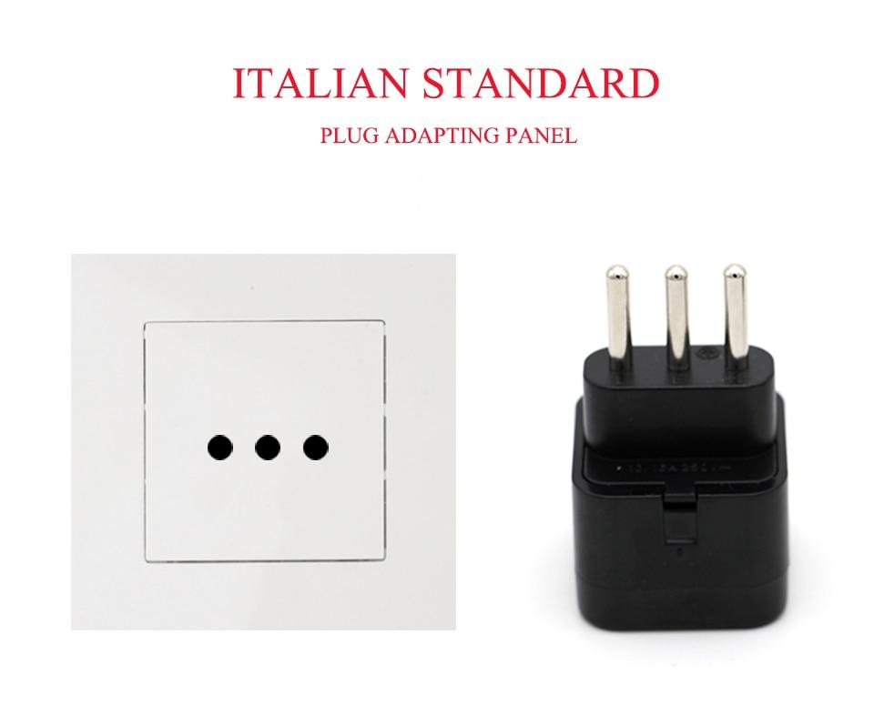 3-pin IT Conversion plug Universal UKUSEUAU to Italy Milan Chile Vatican Italian Travel AC Power Adapter Plug Converter (2)