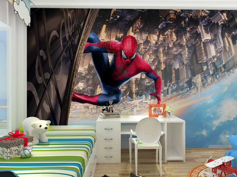 Spiderman wallpaper for bedroom 28 images spiderman for Spiderman kids room