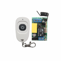 AC220V RF Wireless Mini Switch Relay Receiver Remote Controllers For Light Switch With White Waterproof Transmitter