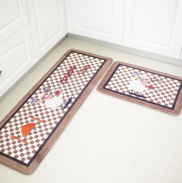41x120cm Flannel Long Kitchen Flooring Mat Square Non Slip Rugs Soft Teti Cucina