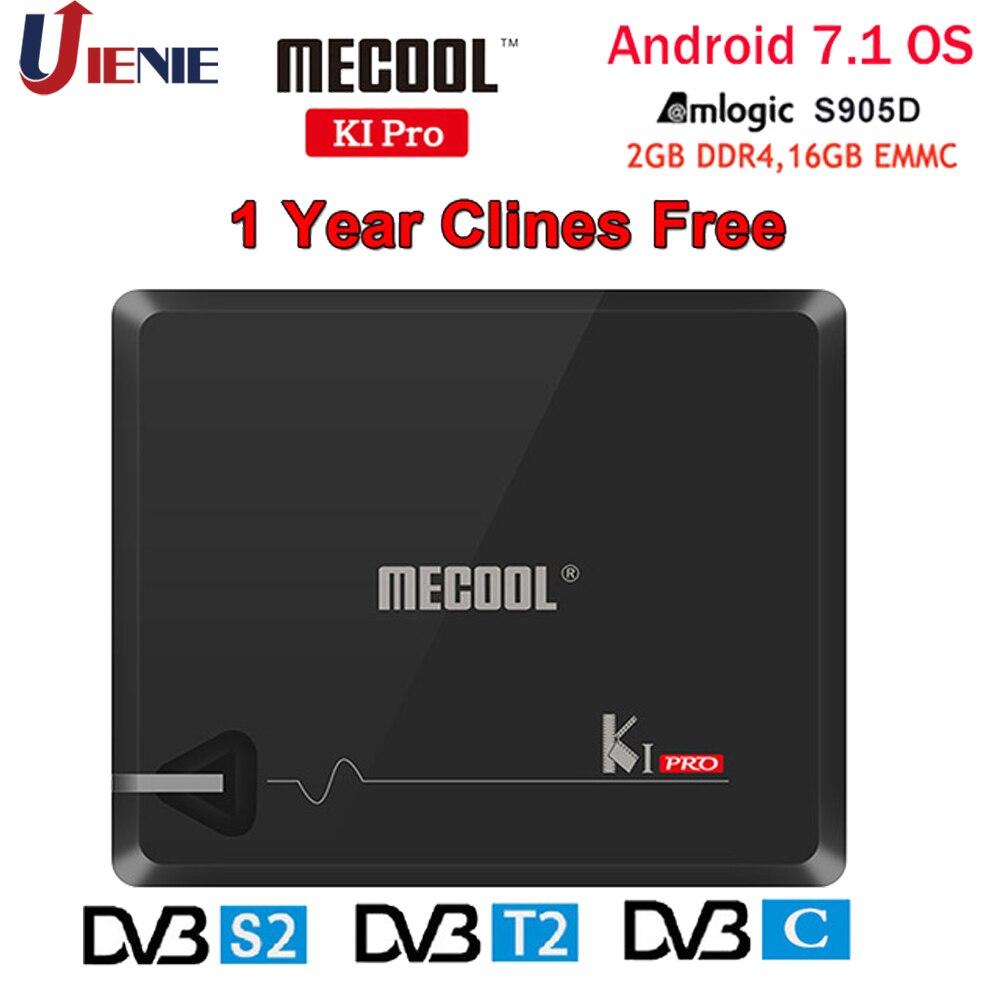 MECOOL KI PRO Set Top Box Android 7.1 Amlogic S905D Quad 2G + 16G DVB-T2 & S2/ DVB-T2/DVB S2 DVB-C Set Top Box 4 K Ultra HD OyuncuMECOOL KI PRO Set Top Box Android 7.1 Amlogic S905D Quad 2G + 16G DVB-T2 & S2/ DVB-T2/DVB S2 DVB-C Set Top Box 4 K Ultra HD Oyuncu