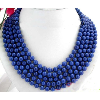 Long Lapis Necklace AA 8MM Nature Round Lapis Lazuli Necklace earring Fashion Women's Jewelry Hot Sale New Free Shipping