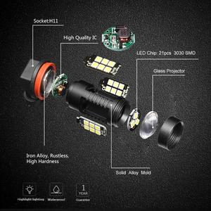 Image 2 - 2pcs 1200Lm H11 H8 ไฟ LED หลอดไฟ LED 9005 HB3 9006 HB4 ไฟวิ่งกลางวัน DRL FOG 6000K 12V ขับรถ