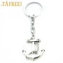 Big Anchor Keychains Vintage Antique Silver plated Keyholder fashion new Solid Pendant Keyring gift for christmas