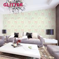 Modern Beige 3d Embossed Plant Shed Living Room Italian Pink Flowers Wallpapers Vinyl Orchid Wall Murals Wallpaper Paper Roll