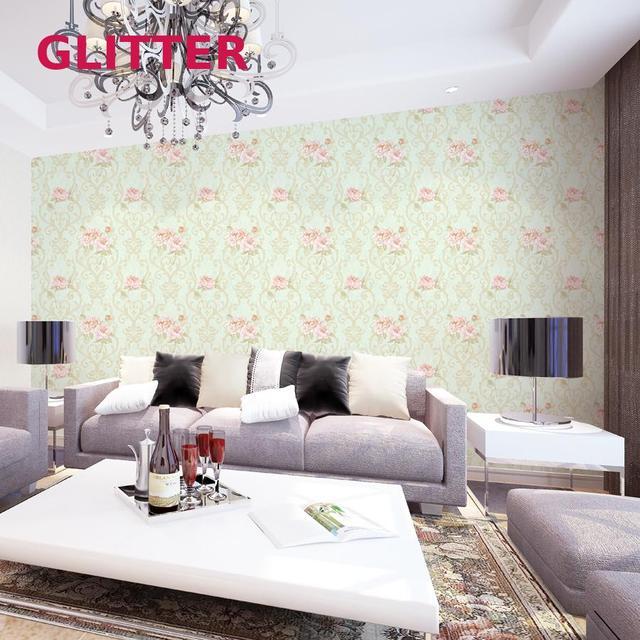 Moderne Beige 3d En Relief Plante Hangar Salon Italien Rose Fleurs