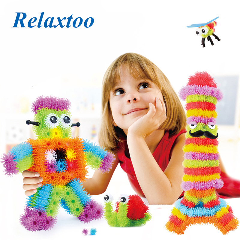 3D Puzzle Building Blocks Magic Puffer Ball 300/600 Pieces Accessories Mega Pack Animals DIY Assembling Toy Sets For Children