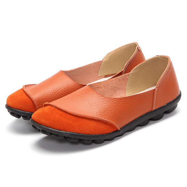YAERNI 2017 Woman Shoes Summer Spring Genuine Leather Loafers Solid Slip-On Round Toe Handmade Flats W060