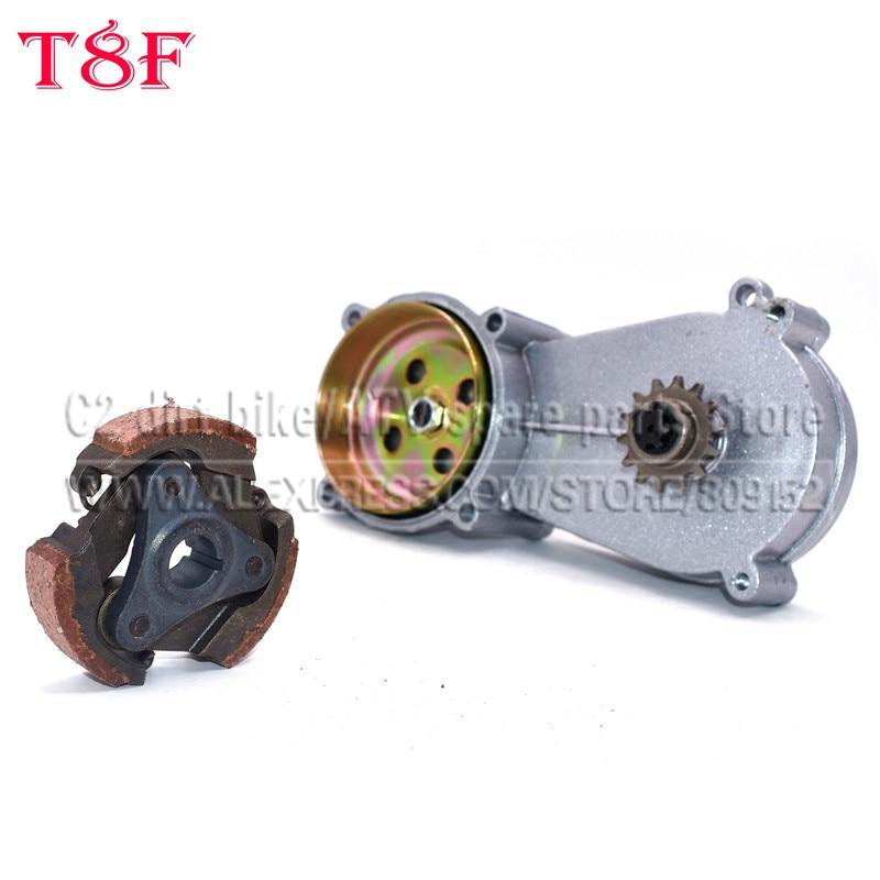mini moto ferro embreagem e t8f cilindro embreagem caixa de engrenagens 11 t 13 t 14