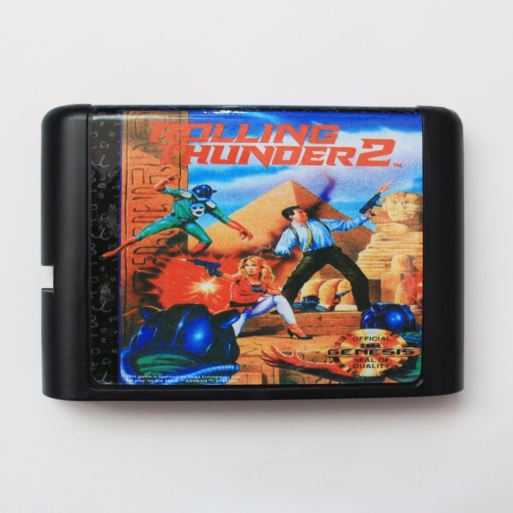 Rolling Thunder 2 16 bit SEGA MD Game Card For Sega Mega Drive For Genesis