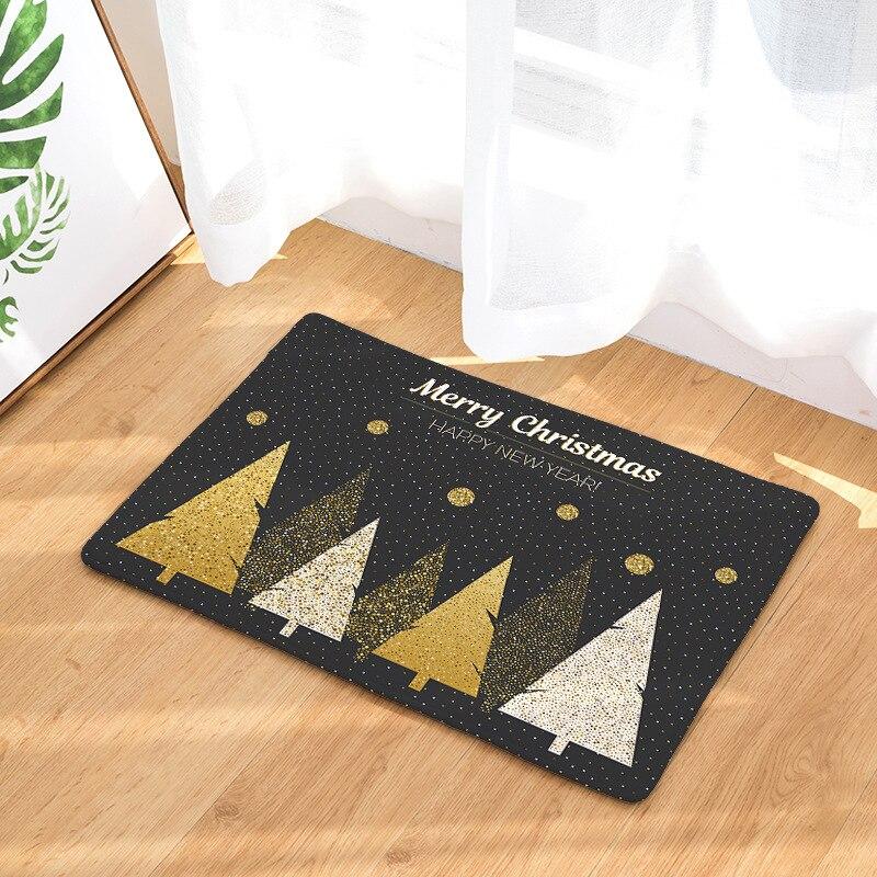 CAMMITEVER Luxurious Golden Black Christmas Rug Homing New Arrive Door Mats For Entrance Door Carpets Living Room Dust Proof Mat