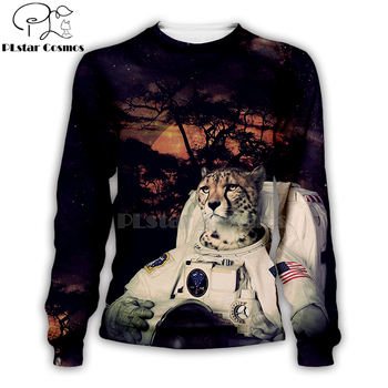 Armstrong with Cheetah Space Suite 3D Printed Hoodie 1