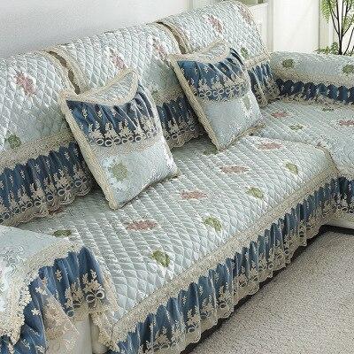 Linen sofa cushion, four seasons universal non-slip cushion, European sofa towel