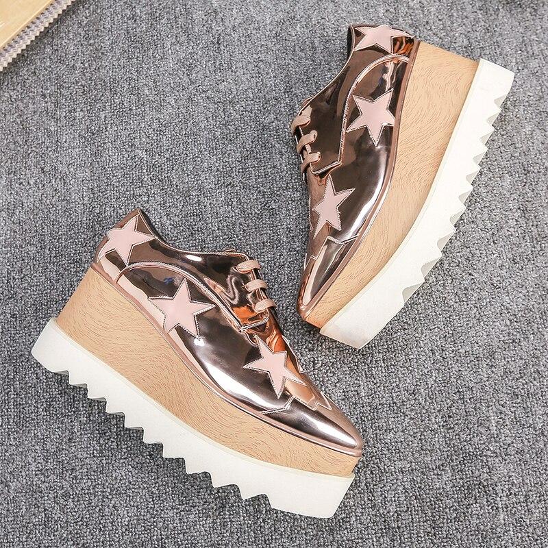 Hot Sale Star Platform font b Shoes b font font b Women b font Flats Soft