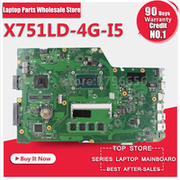 X751LD Mainboard For ASUS X751L K751L K751LN REV 2 0 Laptop Motherboard USB3 0 DDR3 With