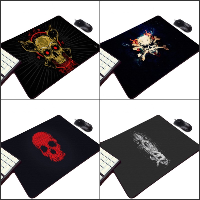 Mairuige Funny Horror Skull Cool Pattern Small Rubber Mousepad Mini Pc Computer Game Gaming Mouse Pad for Gamer Play Table Mat image