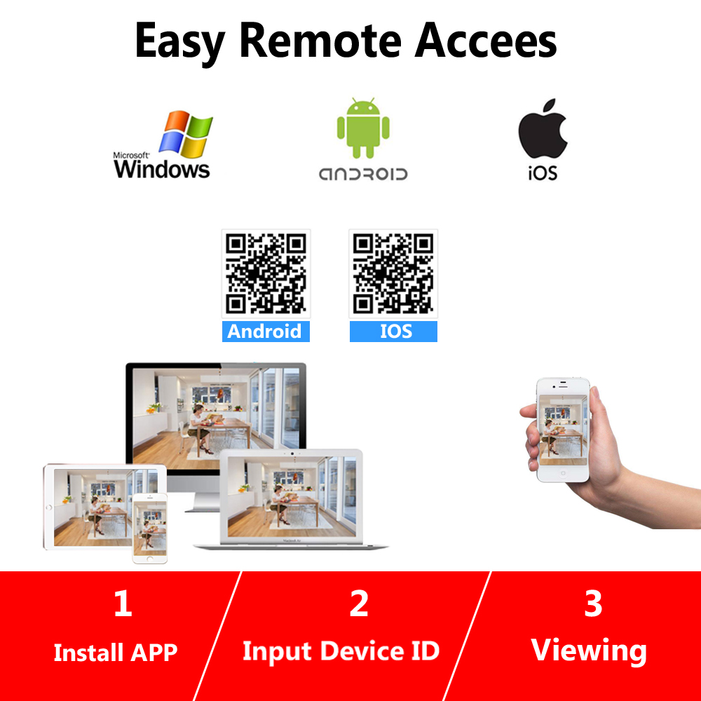 Купить с кэшбэком NINIVISION 8CH CCTV System 1080P 720P HDMI AHD 8CH CCTV DVR 8PCS 2.0 MP IR Security Camera Sony 3000TVL CCTV Camera System Kit