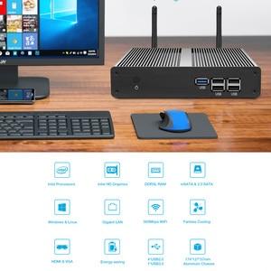 Image 2 - Ycsd mini pc intel celeron n2930 núcleos quad windows 10 gigabit ethernet 300mbps wifi gigabit ethernet hdmi vga 5xusb fanless