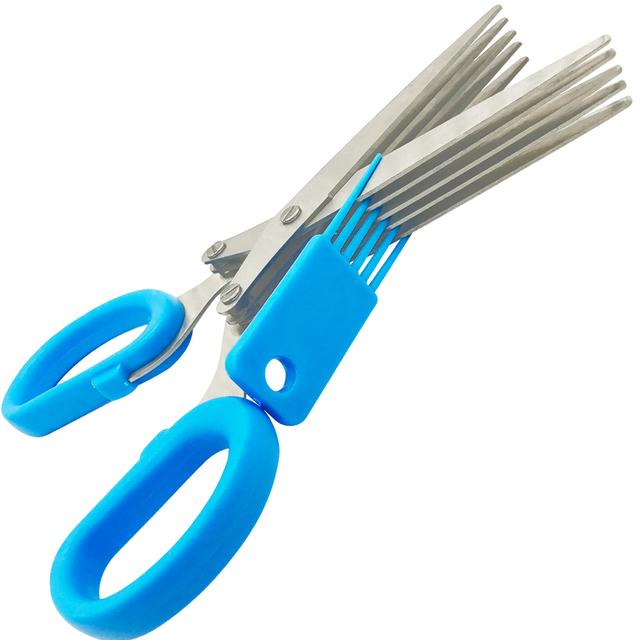 5 Layers Blade Scallion Scissors