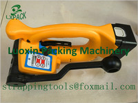 LX PACK Lowest Factory Price Battery Recharge Plastic Banding Tool Hand Held Electrical Strapping Machine Packing