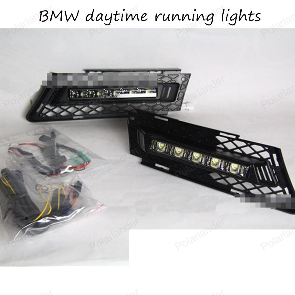 Yeats Led Daytime Running Lights Drl Led Front Bumper Fog: DRL High Light Auto Front Bumper Led Fog Lamps, Car LED