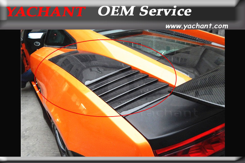 Kits de carrocería de fibra de carbono con estilo para coche, rejilla de ventilación para 2003-2014 Gallardo LP550 LP560 LP570, rejillas de guardabarros traseros estilo OEM