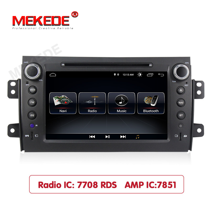 MEKEDE <font><b>Android</b></font> 8.1 Car Radio Tape Recorder Stereo For <font><b>Suzuki</b></font> <font><b>SX4</b></font> <font><b>2006</b></font> 2007 2008 2009 2010 2011 2012 WIFI RDS Car dvd Player image
