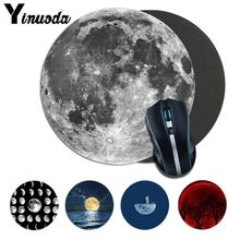 Yinuoda Custom Skin moon shaped Gaming round Mouse Pad Computer Mats Size for 22*22cm mousepad Rubber Rectangle Mousemats