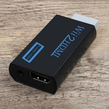Amkle Wii to HDMI Adapter Converter Support 720P 1080P FullHD with 3.5mm Audio Jack Wii2HDMI Adapter for HDTV