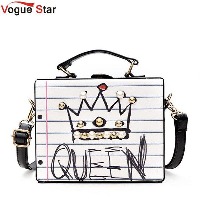 8b21c0314fd9 Casual female handbag party purse ladies crossbody messenger bag New  arrival fashion letter diamonds pearl rivet box shape L25