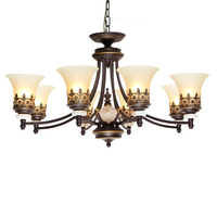 Vintage Ceiling Lamp Black Iron Glass Lampshade Pendant Chandelier E27 Bulb Luminaria Lamparas bar cafe hanging lamps
