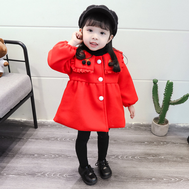 Mihkalev baby girl winter jacket and coat for children single-breasted overcoat kids clothes girls thicken clothing outerwear