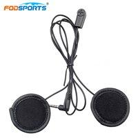 Fodsports Helmet Headsets Intercom Headphone Soft Wire With Metal Clip For V6Pro V4 Interphone Earphone 3
