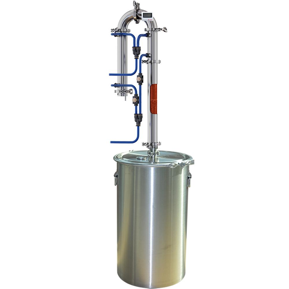 35L/60L Home Brewed Distiller New Tubular Exchanger Distiller Moonlight Alcohol Machine With Copper Net Distillation Tower