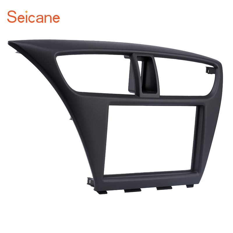 Seicane Dash Panel Kit Car Radio Fascia for 2012 2013 2014 2015 Honda Civic European LHD