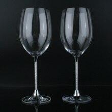 Oh tendencia precio de oferta Goblets para gafas de boda Goblets Vintage de colores con estilo cristal Copos decoración de la Mesa copa de vino